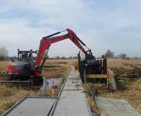 Het vlonderpad bij bezoekerscentrum de Wieden volledig vernieuwd